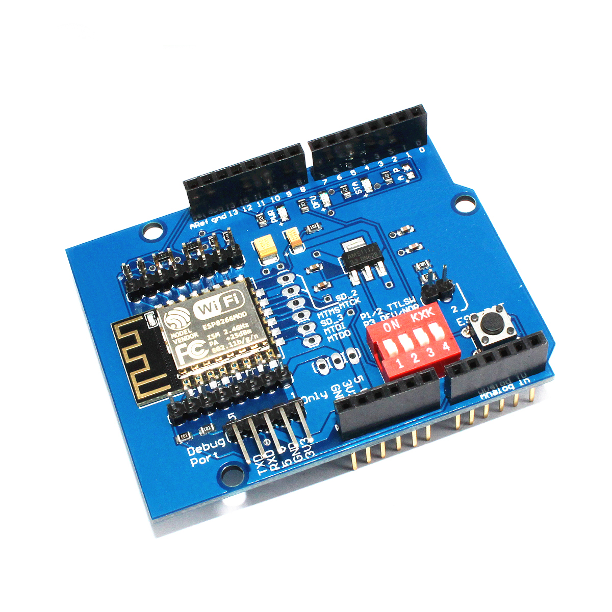 UNO R3 <font><b>ESP8266</b></font> serial WiFi <font><b>expansion</b></font> <font><b>board</b></font> shiled ESP-12E development <font><b>board</b></font> for Arduino image