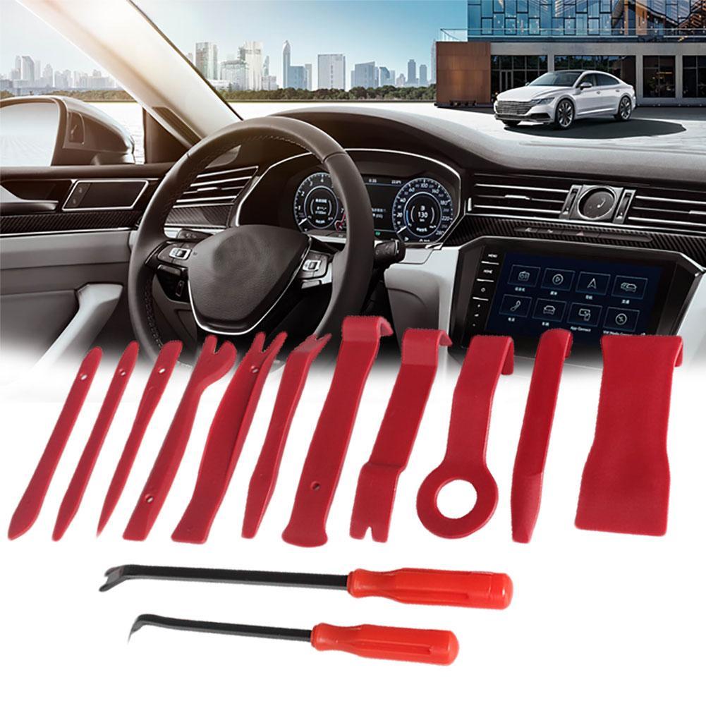 13Pcs Auto Car Radio Audio Panel Trim Door Clip Removal Installer Pry Tool Kit 2019