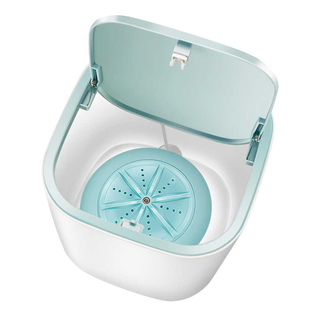 Portable Mini Washing Machine BLUE 10L Foldable Washer Machine Rotating Turbine Automatictravel Laundry Clothes Washer Baby Use Washing Bucket