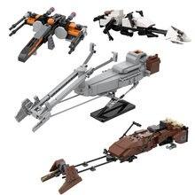 Star T70 x-wing Fighter Speeder Bike klocki space Movie Mandalorianingly cegły bloki kolekcja zabawki dla dzieci dorośli
