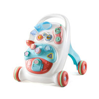 Baby Walker Toys First Step Car Multifuctional Toddler Trolley Sit to Stand ABS Musical Walker with Adjustable Screw for Toddler