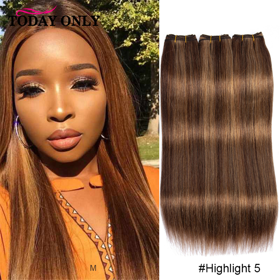 Highlight Honey Blonde Brown Cuticle Aligned Hair Mix Hair Color Straight Hair Bundles #27 Blonde Human Hair Weave Bundles Remy
