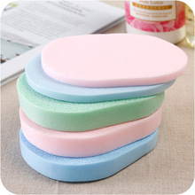2Pcs Facial Cleansing Sponge Puff Face Cleaning Wash Pad Puff Available Soft Makeup Seaweed Sponge Makeup Cleansing Random Color