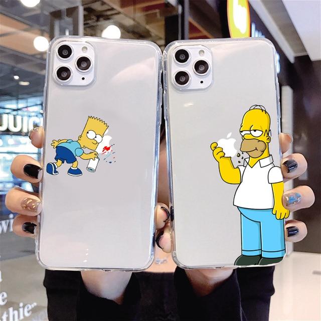 Симпсон чехол для телефона iPhone 12 Pro Max 12 2020 Самолет силиконовый чехол для iPhone 11 6 7 8 Plus XR XS Max 5S