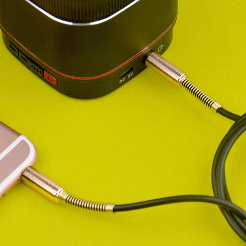 حماية الربيع مساعدة خط ذكر لذكر ستيريو الصوت كابل 3.5 مللي متر الصوت كابل Aux سيارة سجل خط الهاتف MP3 DVD الحاسوب
