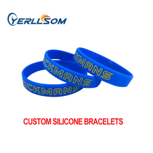 YERLLSOM 100 adet özelleştirilmiş kişiselleştirilmiş silikon bilezikler olaylar için bilekliği YS20050202