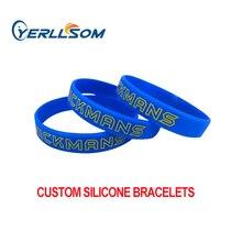 YERLLSOM 100PCS angepasst personalisierte silikon armbänder armbänder für veranstaltungen YS20050202
