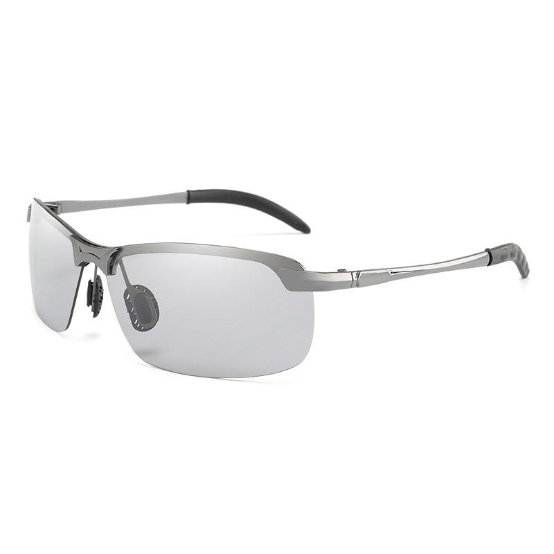 Photochromic Sunglasses Men brand design Polarized Chameleon Discoloration Sun glasses for men Driving Anti glare Goggles in Men 39 s Sunglasses from Apparel Accessories