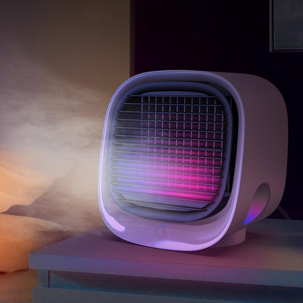 Multifunctional Night Light Mini Negative Ion Air-Conditioning Fan M201 USB Mini Desktop Air Conditioning Fan Plastic