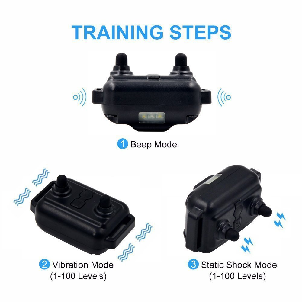 Electric Dog Training Collar Waterproof Rechargeable Dog Collar With Remote Control Receiver Pet Training Collar HOT sell