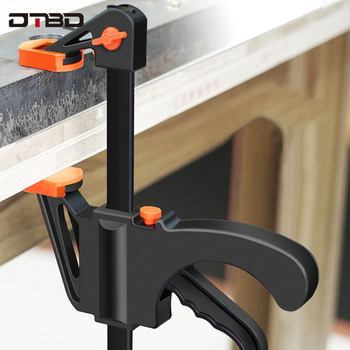 Spreader Work Bar Clamp F Clamp Gadget Tool DIY Hand Speed Squeeze Quick Ratchet Release Clip Kit 4 Inch Wood Working uneefull 6 34 inch quick ratchet release speed squeeze wood working work bar clamp f clip spreader gadget tool diy hand tools