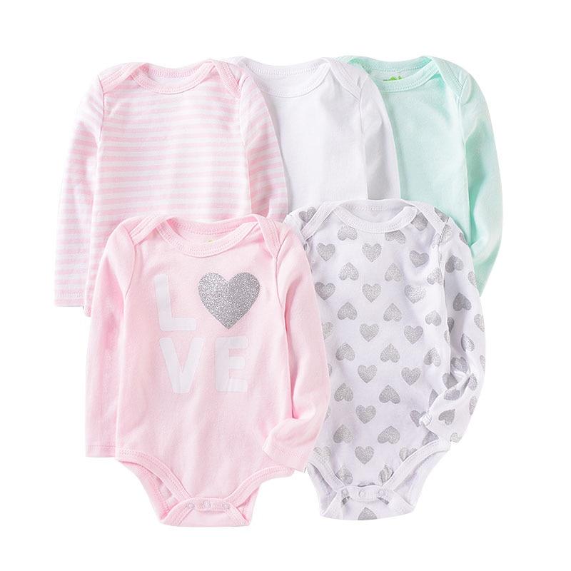 Baby Cotton Rompers Infnat Long Sleeve Clothes Kids Bodysuit Cute Cartoon Pattern Jumpsuit Newborn Clothing Unisex 0 12MonthsBodysuits   -