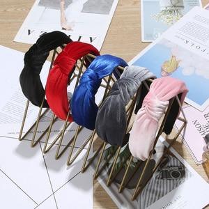 Новая простая тканевая повязка на голову, мягкая хлопковая повязка на голову с бантиком и тюрбаном, аксессуары для волос