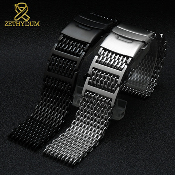 High quality Milan mesh stainless steel bracelet 20mm 22mm 24mm 316L for iwc omage watchband solid metal band