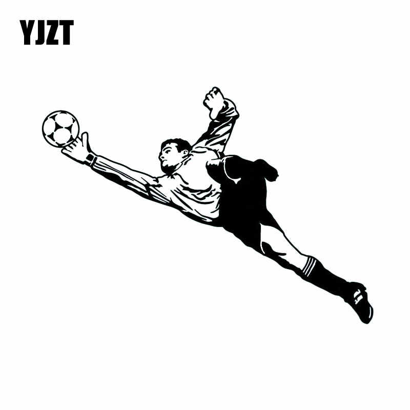 YJZT 16CM*11.5CM Goalkeeper Soccer Football Sport Car Sticker Funny Animal Decorative Window Vinyl Decals C31-0160