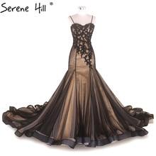 Vestido de novia de corte sirena de Color mezclado con cuentas de encaje de fotografía de diseñador 2020 imagen Real Serene Hill HM66210