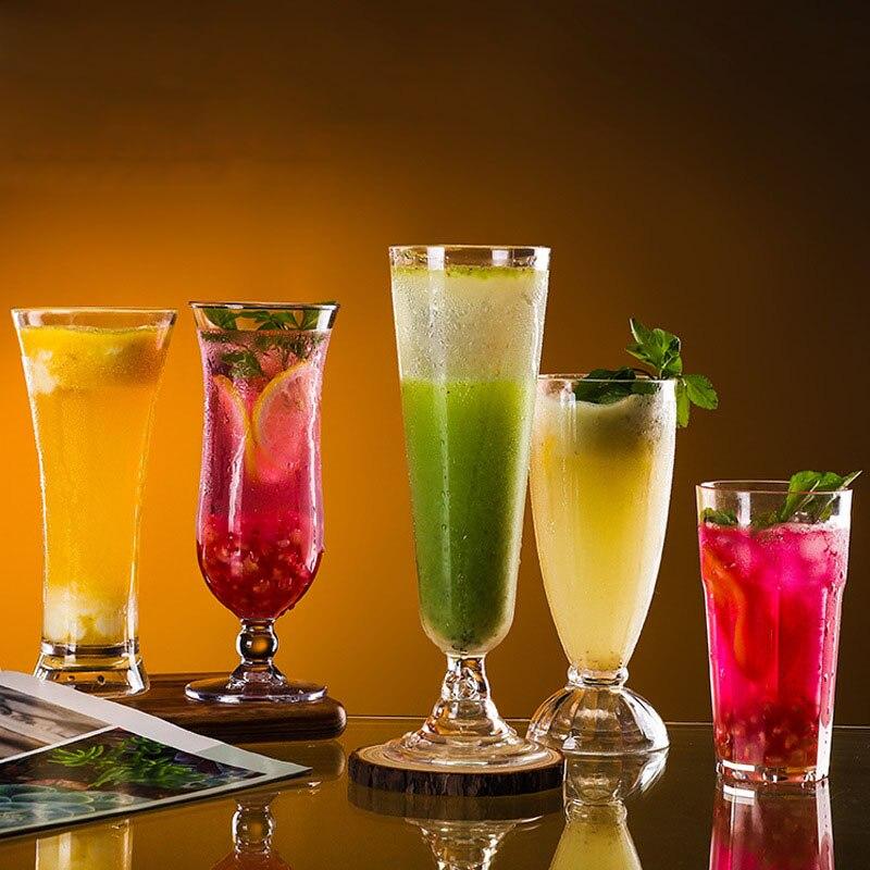 2pcs Acrylic Plastic Beer Juice Water Cup Transparent Unbreakable Reusable Milk Drinking Cup Home Bar Party Restaurant Drinkware