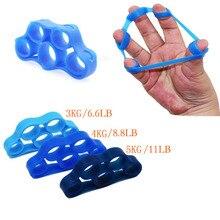1 шт. силиконовый захват для пальцев, браслет сопротивления, рукоятка, носилки для запястья, расширитель для пальцев, силовой тренажер, много цветов