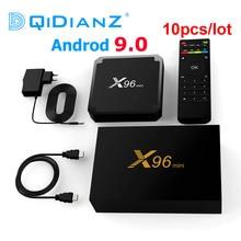 10 adet/grup yeni Android 9.0x96 mini TV kutusu 2GB 16GB Amlogic S905W dört çekirdekli 2.4GHz wiFi medya oynatıcı Set üstü kutu X96mini