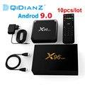 Мини ТВ-приставка X96mini, 10 шт./лот, Android 9,0x96, 2 ГБ, 16 ГБ, четырехъядерный Amlogic S905W, 2,4 ГГц, Wi-Fi