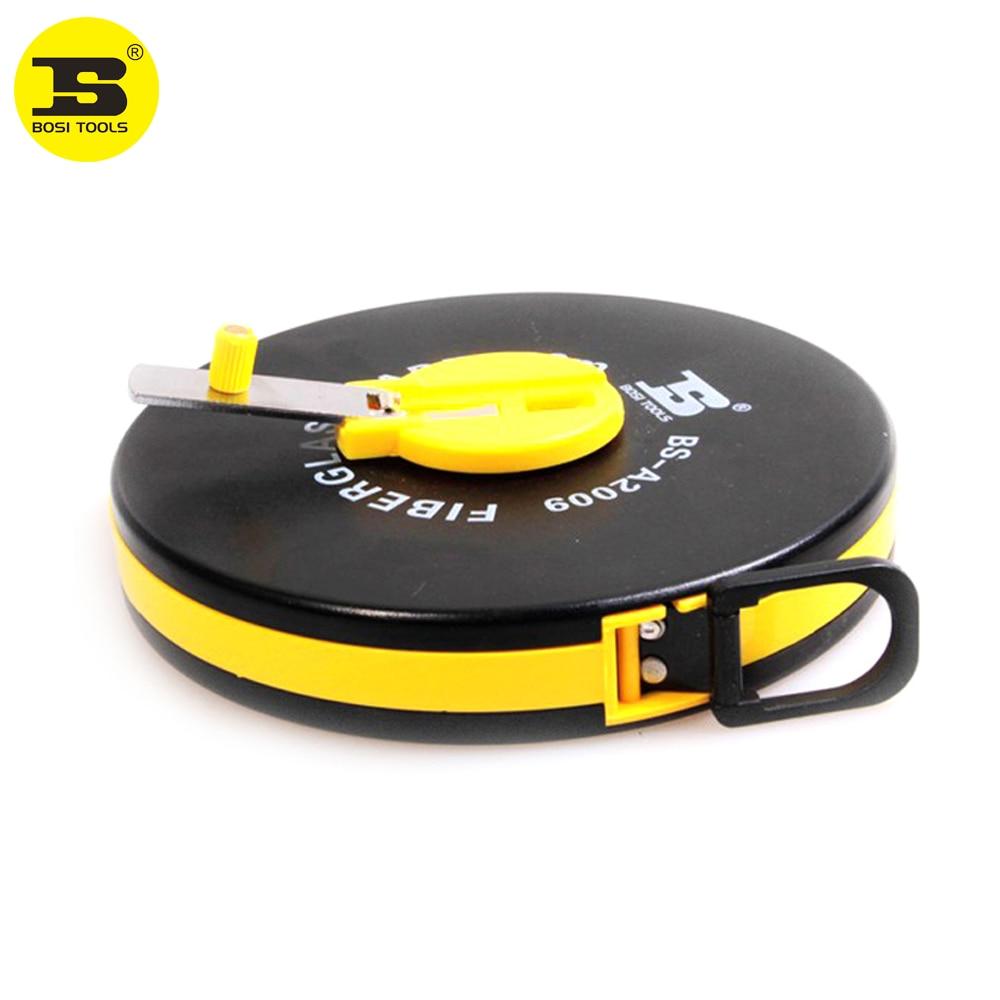 BOSI 10m FIBRA DE VIDRIO cinta métrica, herramientas de medición