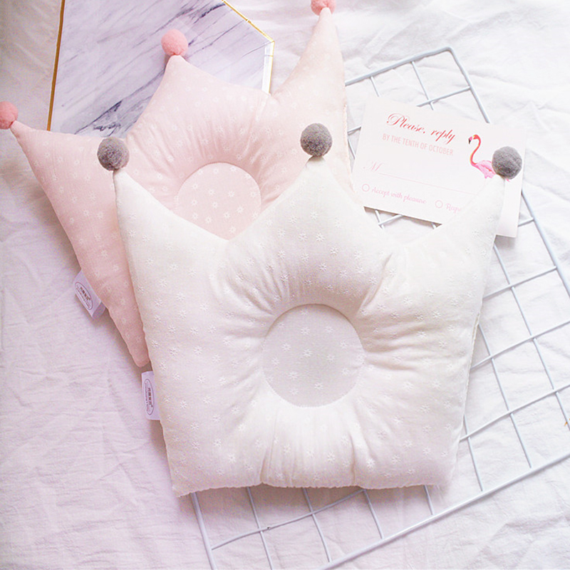 Baby Pillow Anti-rollover Nursing Pillow Mummy Breast Feeding Newborn Flat Head Pillow Printing Breathable