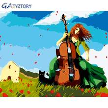 Gatyztory набор картин по номерам для взрослых виолончель представлений