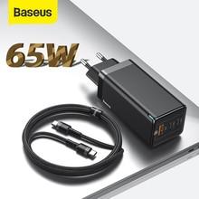 Baseus GaN PD 3.0 iPhone 11 Pro Max 지원을위한 고속 USB 충전기 삼성 S10 Plus 65W 빠른 USB 충전기 용 AFC FCP SCP QC 3.0