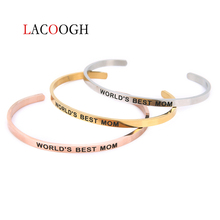 Lacoogh Stainless Steel Lettering Bangle Fashion Cuff Bracelets Sisters Women 4MM YOU'RE MY PERSON Positive For Lover Gifts est 2009 lettering stainless steel positive inspirational round cuff bracelet mantra bangle for lover gifts