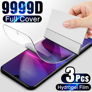 100D Screen Protector For Huawei P30 Lite P40 P20 Pro P10 Plus Full Cover Soft Film on For Huawei Mate 10 20 30 Lite Not Glass(China)