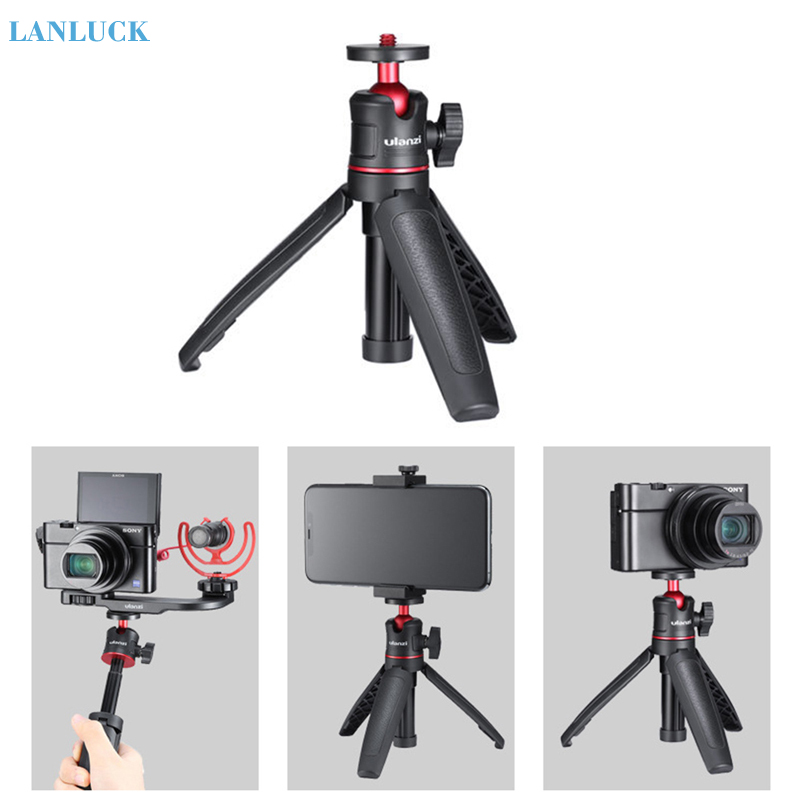 Adjustable Extend Selfie Stick Tripod For Gopro Hero 8 7 6 5 Black Session Osmo Camera 1/4 Inch Phone Vlog Mini Portable Tripod