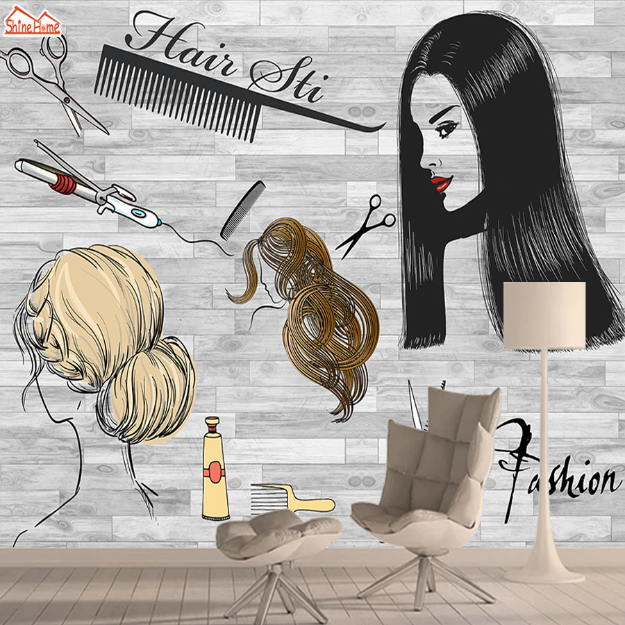 Fashion Haircut 3d Nature Wallpaper Mural Wallpapers For Living Room Wall Paper Papers Home Decor Barber Shop Salon Murals Rolls