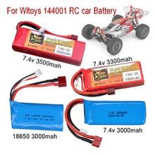Для Wltoys 144001 автомобиля 2s 7,4 V батарея 1500 мАч/3300 мАч/3500 мАч литий-полимерный аккумулятор T разъем для Wltoys 144001 12423 12428 RC автомобильного аккумулято...