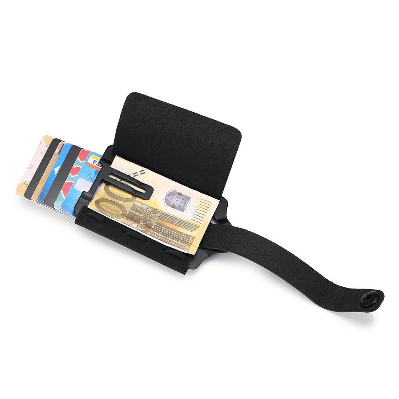 BISI GORO RFID Blocking Credit Card Holder 2020 Button Wallets Money Bag Hasp Small Wallet For Men Card Holder Purse Carteira