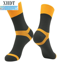 Men high quality knee-high breathable coolmax FX running waterproof/windproof coolvent cycling riding hiking outdoor sport socks