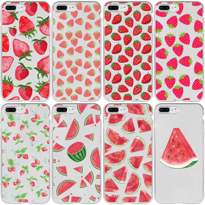 Flamingo Watermelon Strawberry Cover Case for iPhone 5 5S SE 2020 6 6S 7 8 Plus XR X XS 11 12 Mini Pro Max