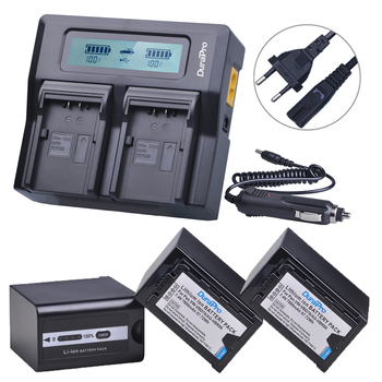 3Pc 7800mAH VW-VBD78 VBD78 AG-VBR89 Battery+LCD Quick Charger for Panasonic AJ-HPX260MC,HPX265MC,PX270,PX285MC,AG-FC100,HC-X1000