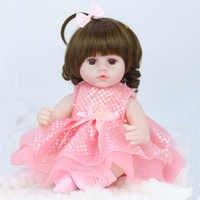 Muñeca de bebé de silicona suave para niñas, bebé de 42cm, simulación bebés muñecas reborn, juguetes para niñas, regalos de cumpleaños y Navidad