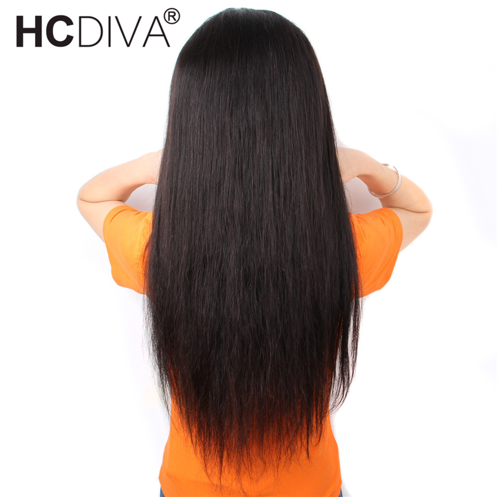 360 Lace Frontal Wig Pre Plucked With Baby Hair 150% Straight Lace Human Hair Wig Brazilian Remy Human Hair Wig For Black Women