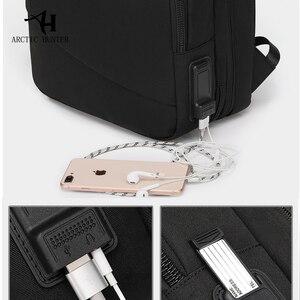 Image 4 - ARCTIC HUNTER Brand Male 15.6 inch Laptop Backpack Man USB Recharging Multi layer High capacity Travel Bag backpacks 2020 New