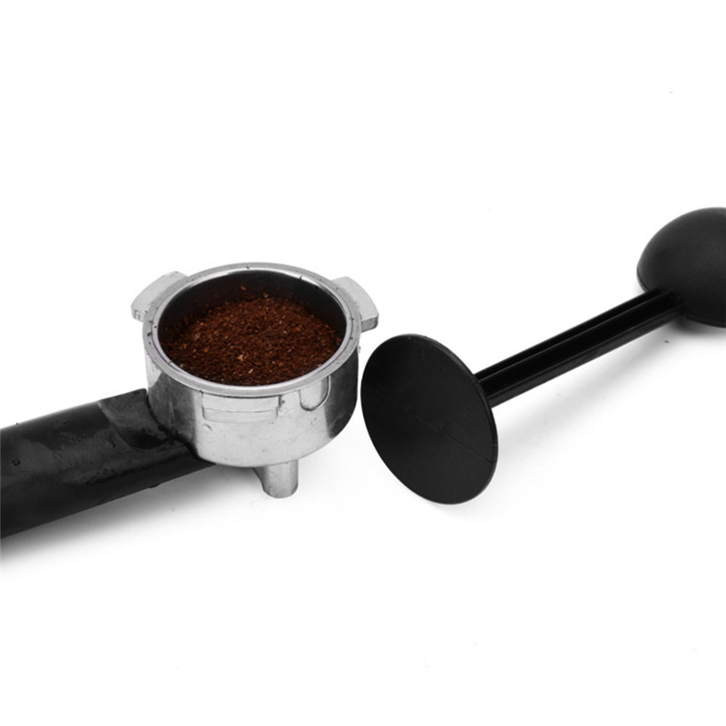 Plastic Coffee & Tea Tools 2 IN 1 10g Measuring Tamping Scoop Coffee Tamper Black Espresso Stand Coffee Spoon