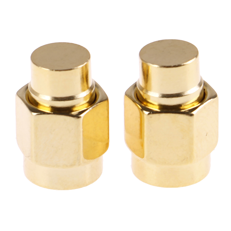 2 pcs/lot 2W 6GHz <font><b>50</b></font> ohm <font><b>SMA</b></font> Male RF Coaxial Termination Dummy Load Gold Plated Cap Connectors Accessories image
