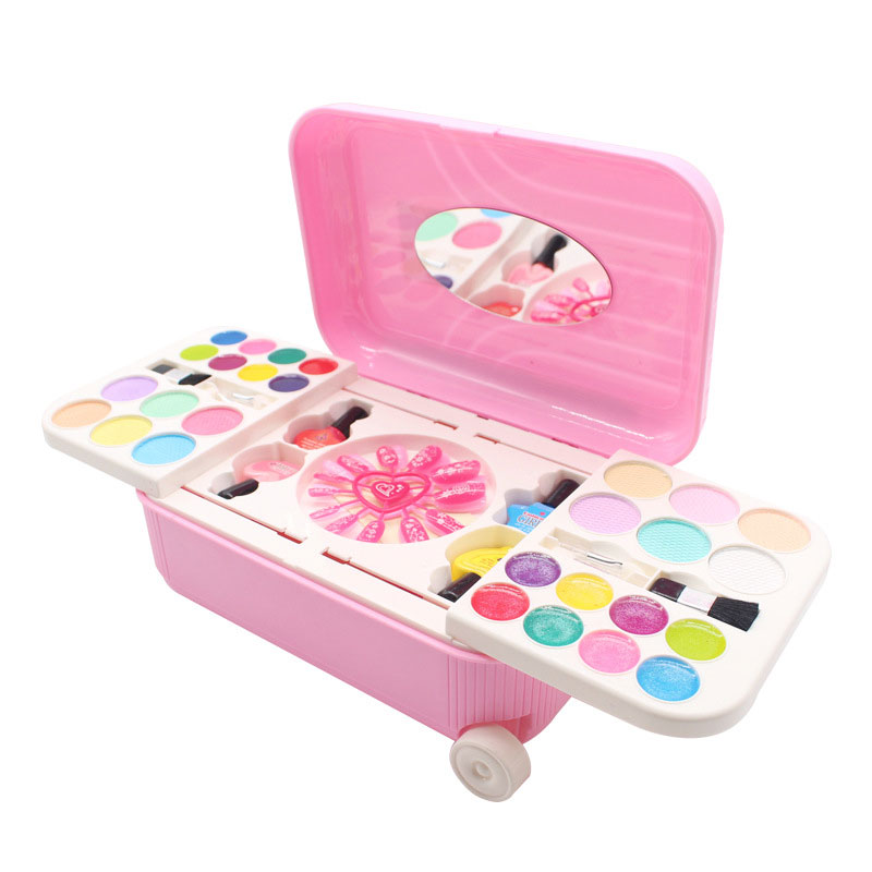 Little Girl Make-up ToyChildren's Water-based Cosmetic Set Can Peel The Nail Polish Makeup Princess Play House Toy.
