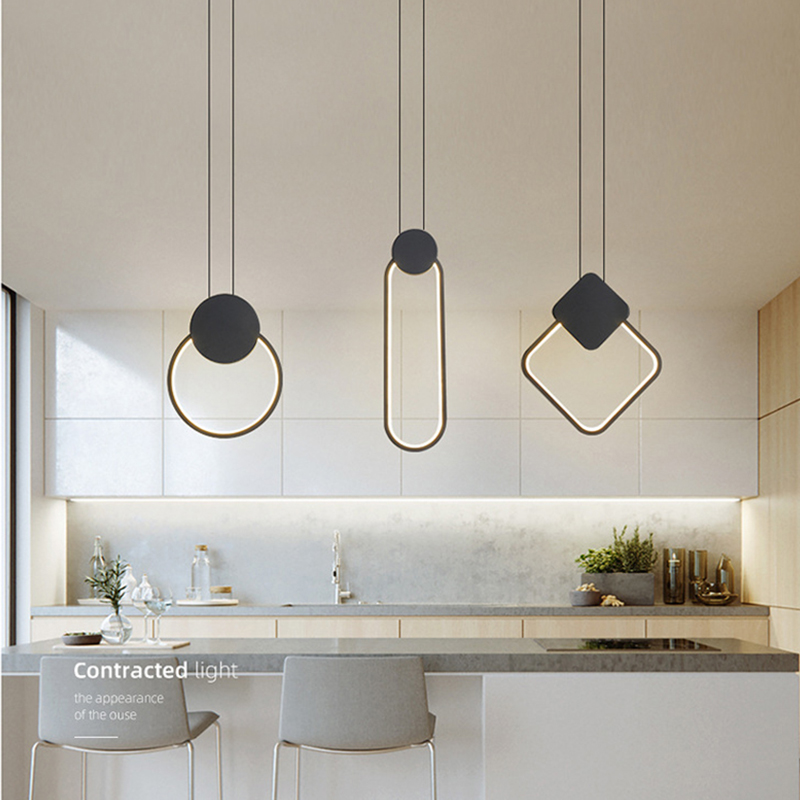 Zerouno Novelty Modern Led Pendant Light 220v Black White Simple Style Nordic Led Lamp Ceiling Home Decor Creative Hanging Lamps