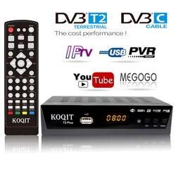 Koqit 1080 P DVB-T2 ТВ тюнер DVB t2 HD tv Box рецепторов наземного конвертер MPEG4 DVB T цифровой приемник Witi Youtube IP ТВ M3u