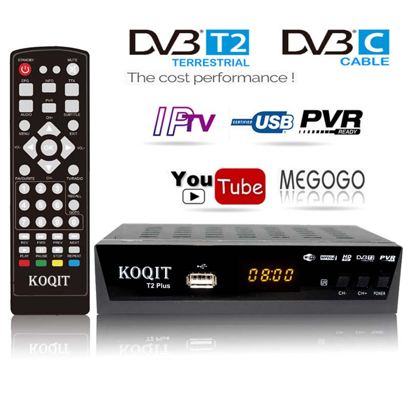 HD DVB-C DVB-T2 Empfänger Satellite Wifi Kostenloser Digital TV Box DVB T2 DVBT2 Tuner DVB C IPTV M3u Youtube Russische manuelle Set Top Box