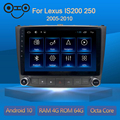 Android 10.0 Octa Core 4+64G Gps Navigation Car Multimedia Player Radio For Lexus IS200 250 2005-2010