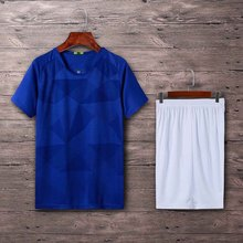 Football Jersey Boys Uniform Blank Mens Soccer Kids Short Sleeve Sports Team Training Wear