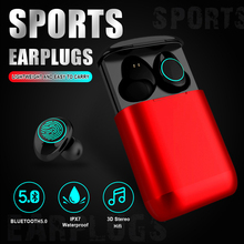 Newmsnr I9P Fingerprint Touch Bluetooth Earphones,Free shipping HD Stereo Wireless earset,Noise Cancelling Gaming Headset