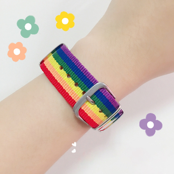 2021Rainbow Lesbians Gays Bisexuals Transgender Bracelets For Women Girls Pride Woven Braided Men Couple Friendship Jewelry image